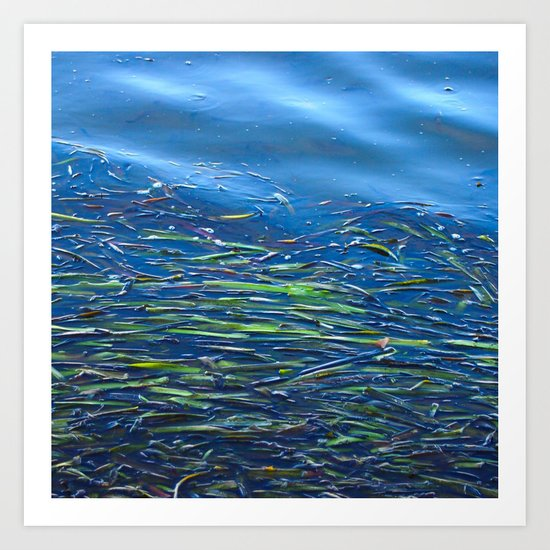Blues and Greens Art Print
