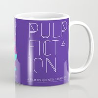 pulp Mugs featuring Pulp Fiction by RJ Artworks