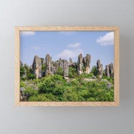 Shilin Stone Forest - Yunnan, China Framed Mini Art Print