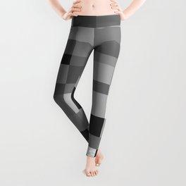 Grayscale tiles Leggings