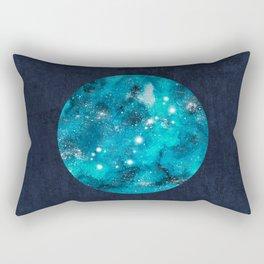 Scorpio zodiac constellation on navy blue Rectangular Pillow