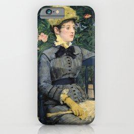 Edouard Manet - In the Conservatory iPhone Case