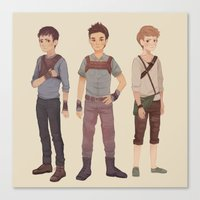 maze runner Canvas Prints featuring Maze Runner by Olivia Chin Mueller