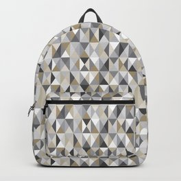 Stone Mid Century Modern Triangle Print Backpack