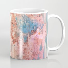 Earth: rust, orange, pink and blue abstract ink spills Coffee Mug