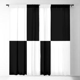 WHITE & BLACK Blackout Curtain