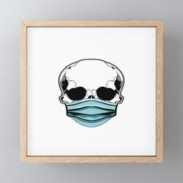 Safe To The Bone Social Distancing Raise Awareness Halloween T-shirt Face Mask Corona Virus Framed Mini Art Print