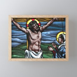 12th Jesus Speaks to His Mother and the Beloved Disciple Framed Mini Art Print