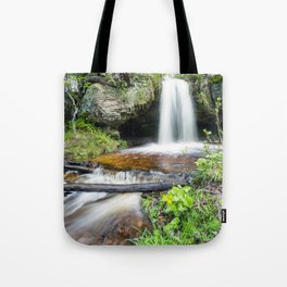Scott Falls in Spring - Au Train Michigan Tote Bag