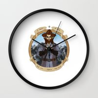 nori Wall Clocks featuring The Key by BlueSparkle