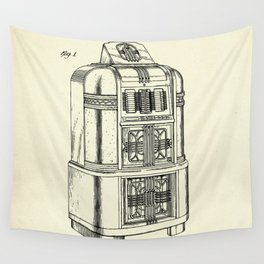 Phonograph Cabinet-1940 Wall Tapestry
