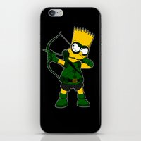 green arrow iPhone & iPod Skins featuring Arrow by Betmac