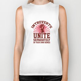 Introverts Unite Biker Tank