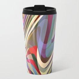 Astract Waves Travel Mug
