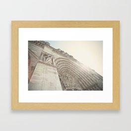 Bathed in sunlight at the Notre Dame, Paris, France Framed Art Print