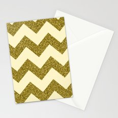 Chevron Gold Stationery Cards