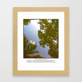 life is a mirror Framed Art Print
