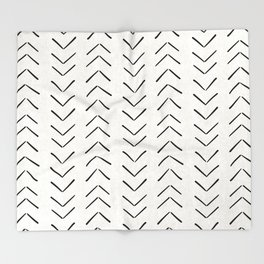 Mud Cloth Big Arrows in Cream Throw Blanket