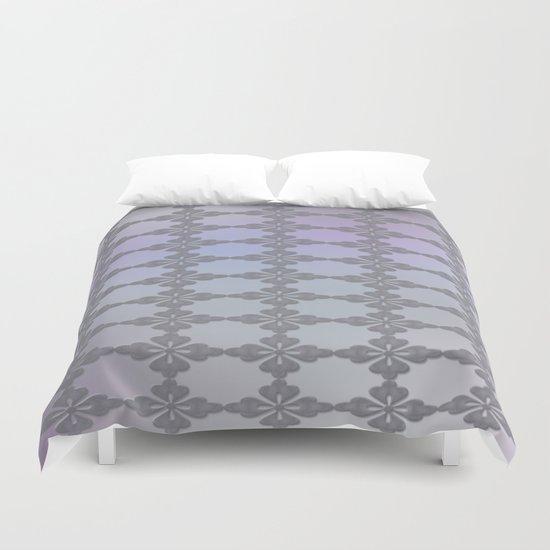 Soft Ornate Grid Pattern Duvet Cover