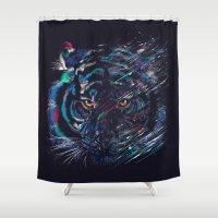 fierce Shower Curtains featuring FIERCE by dan elijah g. fajardo