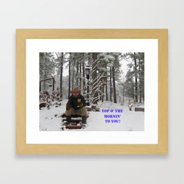 Top o' the Mornin' to you Framed Art Print