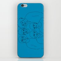 1d iPhone & iPod Skins featuring 1D by Rebecca Bear