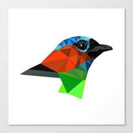 Bird art Saira Nature Animals Geometric Canvas Print