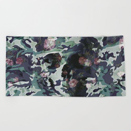 Camouflage Skull V2 Beach Towel