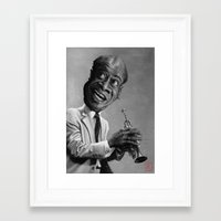 louis armstrong Framed Art Prints featuring Louis Armstrong by AndreKoeks
