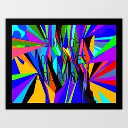 Sunlight on waves, a disco ball. Art Print