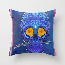 Sugar skull 3rd eye Throw Pillow