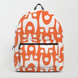 Mid Century Modern Abstract Pattern 542 Orange Backpack