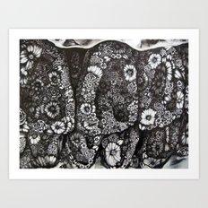 Flower Teeth  Art Print