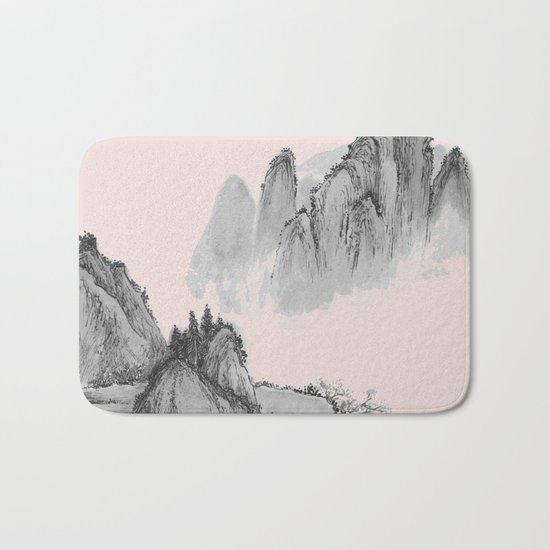 Mist mountain Bath Mat