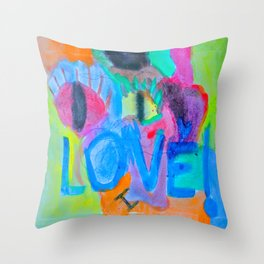 Summer Love | Painting by Elisavet Throw Pillow