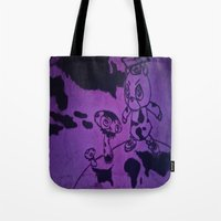 murakami Tote Bags featuring Graduation by Jide