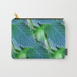 Leaves in Blue - Inverted Art Carry-All Pouch