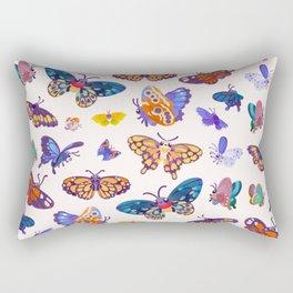 Butterflies Day - bright Rectangular Pillow