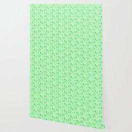 Neon Lime Green Midcentury Wallpaper