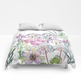 Spring Flowers Bouquet Comforters