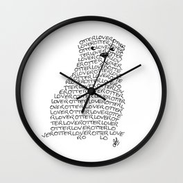 Otter lover typography Wall Clock