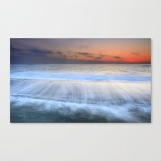 Traces of waves Canvas Print