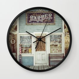 Rand Barber Shop Wall Clock