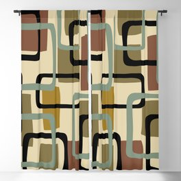 Mid Century Modern Overlapping Squares Pattern 124 Blackout Curtain