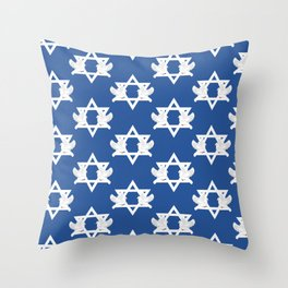 Hanukkah Doves of Peace Star of David Pattern Throw Pillow