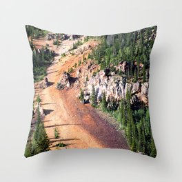 Gold Mine Tailings Slide Throw Pillow