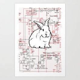 Rabbit, Rabbit, Rabbit Art Print