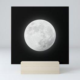 CHALK WHITE MOON Mini Art Print