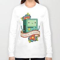 bmo Long Sleeve T-shirts featuring BMO | CHECK PLEASE by Daniel Mackey