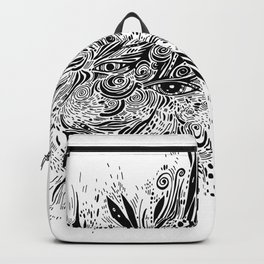 eye doodle, abstract sketch with eyes Backpack